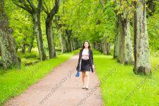 Дождливая фотосессия в летнем парке