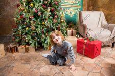 Детская новогодняя студийная фотосессия