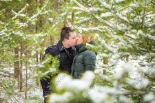 Зимняя lovestory фотосессия в лесу и на берегу Финского залива
