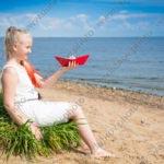 Детская фотосъёмка на песчаном пляже