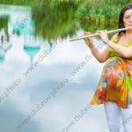 Фотосессия беременной на берегу озера