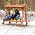 Семейная фотосессия в парке зимой