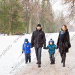 Зимняя семейная фотосессия в парке Ораниенбаум