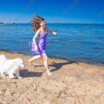 Летняя фотосессия с собаками на берегу Финского залива