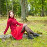 Портретная осенняя фотосессия в парке Ораниенбаум