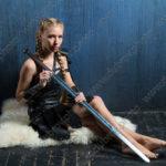 Студийная фотосессия на тему викингов