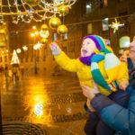 Короткая дождливая новогодняя фотосессия в центре Петербурга
