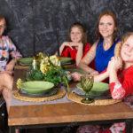 Женская семейная фотосессия